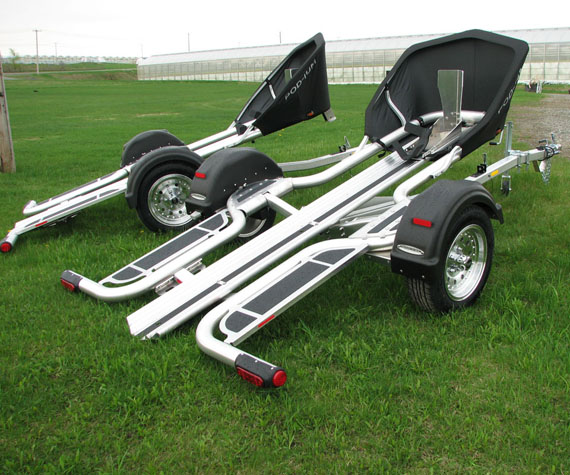The first trailer by Pod-ium trailers, full aluminium, strong and light, can be used for motorcycles, ATV's and PWC's.