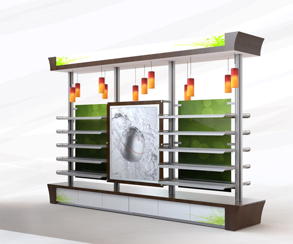 For Vic store Fixtures inc, using the existing available material used in this product line, the goal was to give new styles that would fit to other market that the line was not serving before. In this case it is for the gifts sections of a store.